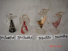 Wholesale stained hand blown glass angel tiles craft for sale