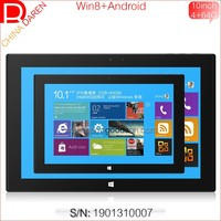 2015 win8+android 10.1 inch quad core 4G+64G memory 1920*1200 LCD tablet / MID with camera / wifi for business