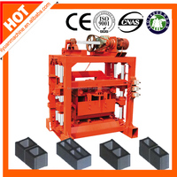 QTJ4-40B2 hollow concrete /Cement brick making machine manufacture supplier in Guangzhou China hot sale in mozambique