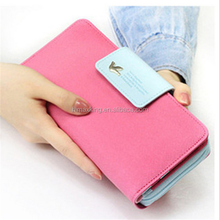 Cute style pu leather ladies magic wallet
