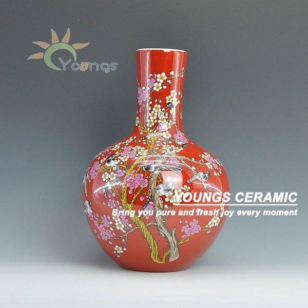 Decoracion Jarrones Chinos ~ decoraci?n del hogar chino rojo jarrones por en Jingdezhen Jarrones