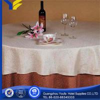 100% Linen wholesale Plain Dyed 6ft 300d polyester tablecloths