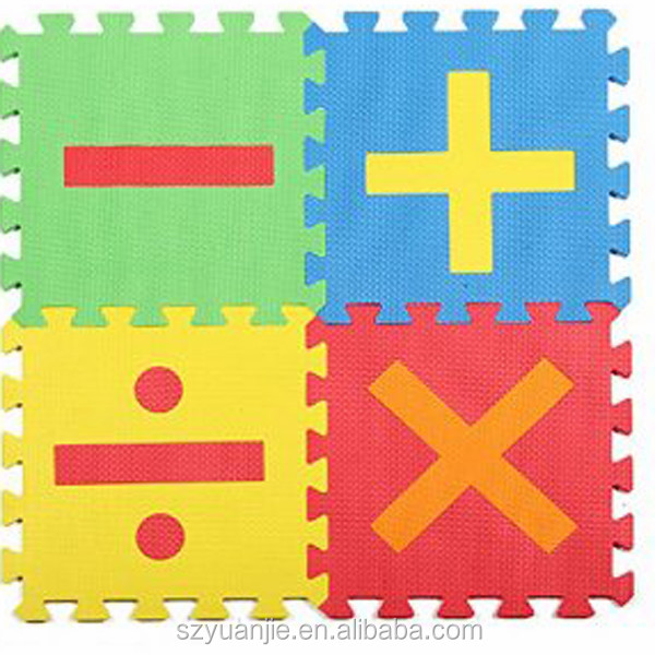 carton printed pretty non-toxic eva foam mat for kindergarden use