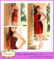 diseñador de último diseño de la vaina de color rojo negro corto novia de la noche imágenes semi formal vestidos( yw348)