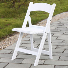 white wedding resin folding chair
