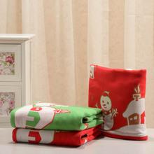 wholesale cotton Snowman Christmas Holiday gauze towel