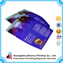Competive price artpaper varnishing lamination cheap colorful flyer color print