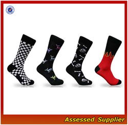Colorful Jacquard Pattern Men Casual Socks/Customized Pattern And Design Men Casual Socks