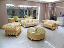 Modern top grain leather teak wood designs sofa/Sitting Room Sets Models sofa