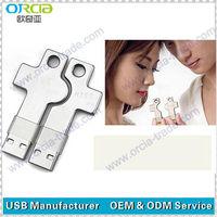 Individuality cute wedding gift metal key shape usb key for lovers with free logo printing