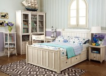 BD3008- Great looking in white antique bed kids bedroom sets