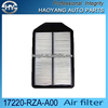 Hot Sale auto parts air filter paper for Japanese car OE NO.17220-RZA-A00