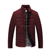 Dull red men duck down filling design jacket manufacture winter clothing 151382014