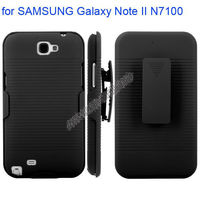 Snap-on Rubber Belt Clip Holster Protective Case with Holder for SAMSUNG Galaxy Note II N7100