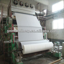 Guangmao 1092mm toilet paper making machine, raw material: bamboo, wood, straw, stalk,etc. China manufacturer