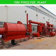 2015 new design waste tyre recycling machine / continuous waste tyre pyrolysis plant