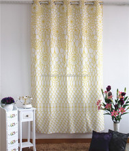 printed design new design ready made rhotel room curtain