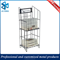 Promotion metal wire newspaper stands sale/used magazine racks/stand