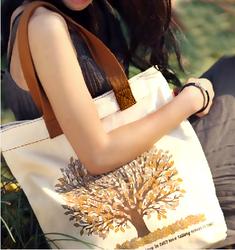 Printed cotton bag/promotional bag/custom printed canvas tote bag