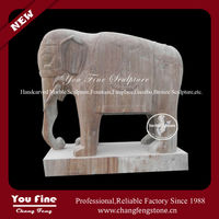 Indian carved granite elephant statues