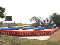inflatable race track for go karts, tricycles, pedal cars, barrel racers, toilet racers, bathtub racers for parties, trade shows