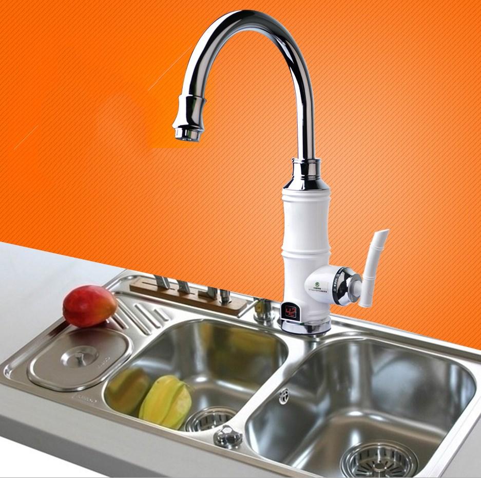 instantan vier lectrique froide m langeur d 39 eau chaude robinet de chauffage instantan. Black Bedroom Furniture Sets. Home Design Ideas