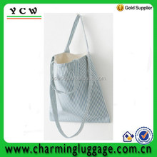 2013 new model simple design striated woman pattern canvas shoulder bag