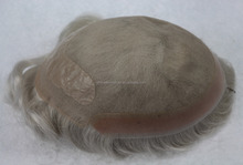 Pu around old men hair wig human hairpieces for men