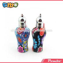 hermoso de arcilla de polímero de rodillos bola decorativa pequeña botella de perfume