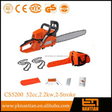 "Petrol Chainsaw 58cc 3.4HP, 20"" Saw Blade, 2 Chains, Bar Cover, Bag & Tool Kit"