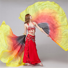 2015 New Belly Dance Silk Isis Wings High Quality Dancing Real Silk Wings Belly Dance Silk Veils 2PCS/LOT