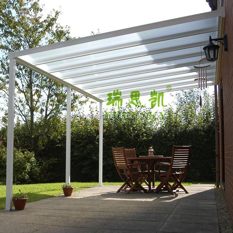 Gazebo giardino plexiglass varie forme di disegno del giardino - Pergola polycarbonate aluminium ...