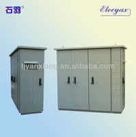 New design battery and rectifier system enclosure/air conditioner outdoor cabinet with equipment and battery compartment SKW-003