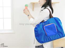 2015 fashion cheap nylon foldable shopping bag with logo