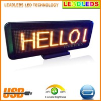 china market of electronic USB rechargeable digital 16x64 mini led moving message display sign