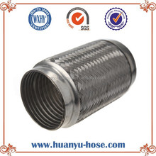 Generator exhaust muffler flexible joints