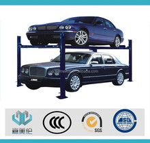 CE certificated button or remote key operate 2 or 4 post car parking lift / double parking car lift / car parking system