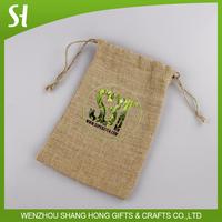 2015 customiz America wholesale burlap bags jute burlap bag 4x6 drawstrings