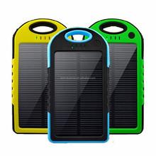 Solar power bank 5000~30000mah for iphone samsung ipad ipod power bank solar from Shenzhen