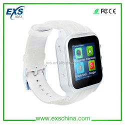 Sim card watch phone factory, android 4.4 smart watch, gsm wifi gps watch phone