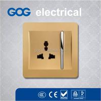 Logo Imprint ABS wall light switch, 3 pin multifunction socket
