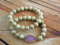 CH-JST0477 fashion charm agate druzy bracelet,precious stone bead bracelet set,wholesale bracelet jewelry
