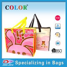 cheap nylon shopping bag, rabbit zipper bag for travel