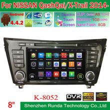 """8"""" Double Din Pure Android 4.4 GPS Navigation Car DVD for Nissan QashQai/X-Trail 2014, Trade Assurance Supplier"""