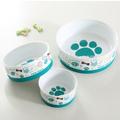Tazones de cerámica para perro con con base de silicona antideslizante venta al por mayor