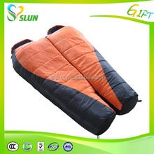 Wholesale sleeping bags 190T Polyester wearable goose down sleeping bag