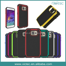Alibabba Wholesale Football Pattern PC+Silicone 3 in 1 Case for Samsung Galaxy S6