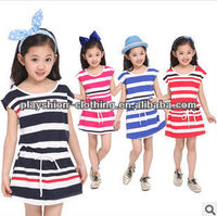 sexy pictures of girls without dress hot summer stripe 100%cotton dresses new dress