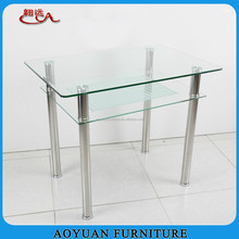 C2 modern design 4 seater glass dining table