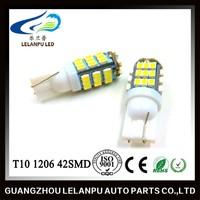 12v led car light T10 W5W 194 464 Car White 42 SMD 1206 LED Car Signal Light Bulb Lamp